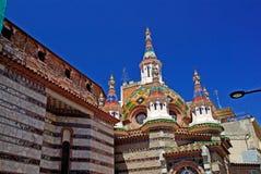Lloret de Mar church. Church with beautiful architecture and ornament. Lloret de Mar, Costa Brava, Spain stock image