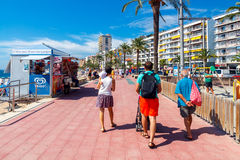 Lloret de mar. City Beach Stock Photo