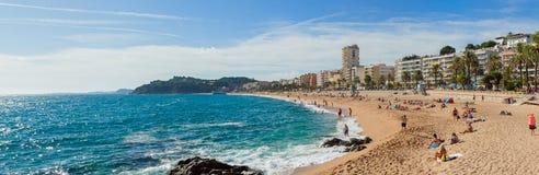 Lloret de Mar coastline Royalty Free Stock Images