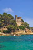 Lloret de Mar,Costa Brava. The Castle of Lloret de Mar on the Costa Brava,Spain Stock Image