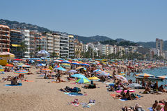 Lloret de Mar in Costa Brava, Catalonia, Spain Stock Images