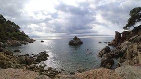Lloret de Mar, Costa Brava en Cataluña, España almacen de metraje de vídeo