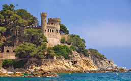 Lloret-de-Mar,Costa Brava,Spain. The Castle of Lloret de Mar on the Costa Brava,Spain royalty free stock photo