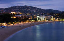 Lloret de Mar, Costa Brava, Spain. View of coastline of resort lloret de Mar, Costa Brava, Spain stock photography