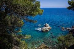 Lloret de Mar Costa Brava, Spanien sjösida Arkivbilder