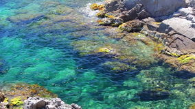 Lloret de Mar, crystal clear water, Costa Brava in Catalonia, Spain Stock Image