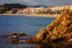 Lloret de Mar op Costa Brava in Spanje royalty-vrije stock fotografie