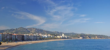 Lloret de Mar panoramic view. Stock Photography