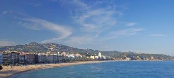 Lloret de Mar panoramic view. stock photography