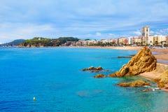 Lloret De Mar plaża Costa Brava Catalonia Obraz Royalty Free