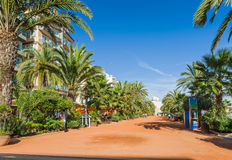 Lloret de Mar sandy alley Stock Photo