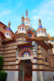 Lloret de Mar Sant Roma chuch in Costa Brava Stock Photo
