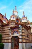 Lloret de Mar Sant Roma chuch in Costa Brava. Of Catalonia at Spain stock photo