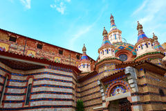 Lloret de Mar Sant Roma chuch in Costa Brava Royalty Free Stock Photography