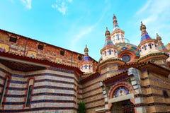 Lloret de Mar Sant Roma chuch in Costa Brava. Of Catalonia at Spain royalty free stock photography