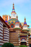 Lloret de Mar Sant Roma chuch in Costa Brava Stock Photography