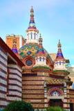Lloret de Mar Sant Roma chuch in Costa Brava. Of Catalonia at Spain stock photography