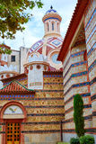 Lloret de Mar Sant Roma chuch in Costa Brava. Of Catalonia at Spain royalty free stock photo