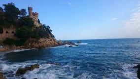 Lloret de Mar slott, Spanien Royaltyfri Foto