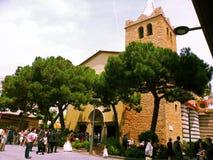 Lloret de Mar, Spain. Church of Sant Roma, Lloret de Mar, Catalonia, Spain - June 12,2011: The wedding in the church of the Holy Roman in Lloret de Mar, Spain royalty free stock images
