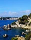 Lloret DE Mar strandzeegezicht Royalty-vrije Stock Afbeelding
