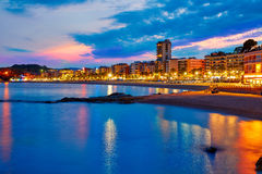 Lloret de Mar sunset at Costa Brava Catalonia Royalty Free Stock Photo