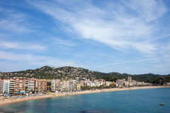 Lloret de Mar Town on Costa Brava in Spain Stock Image