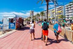 Lloret De marcha Playa de la ciudad Foto de archivo