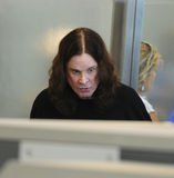 LLOS ANGELES- Ozzy Osbourne is seen at LAX. LOS ANGELES-JUNE 22: Ozzy Osbourne is seen at LAX. June 22nd in Los Angeles, California 2010 Stock Photos