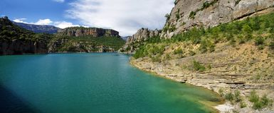 Llosa del Cavall Reservoir, Lleida province, Spain. Royalty Free Stock Images