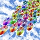Llover discos ilustración del vector
