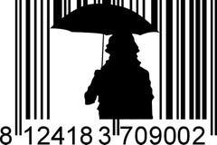 Llover el código de barras Imagen de archivo libre de regalías
