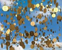 Llover el dinero Foto de archivo libre de regalías