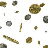 Llover el dinero Imágenes de archivo libres de regalías