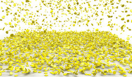 Llover el oro Fotos de archivo