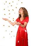 Llover el oro Foto de archivo libre de regalías