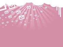 Llover mensajes de texto cortos ilustración del vector