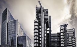 Lloyd e edifício de Willis, Londres. Imagem de Stock Royalty Free