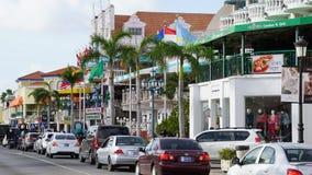Lloyd G Smith Boulevard dans Oranjestad, Aruba Image libre de droits