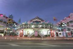Lloyd G Smith Boulevard i Oranjestad, Aruba Royaltyfri Fotografi