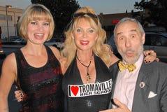 Lloyd Kaufman, Rena Riffel, Shelley Michelle Imagens de Stock Royalty Free