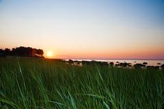 Lloyd Neck Beach Sunset Arkivfoto