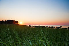 Lloyd Neck Beach Sunset Stock Photo