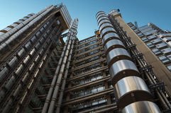The Lloyd's building. A futuristic steel giant in London Stock Images