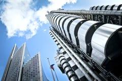 Lloyd y edificio de Willis, Londres. Fotografía de archivo libre de regalías