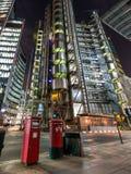 Lloyds大厦在伦敦,英国 库存图片