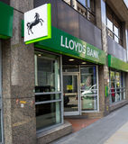 Lloyds bank sign Stock Photo