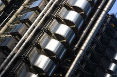 The Lloyds building - Abstract metal building structure Royalty Free Stock Photo