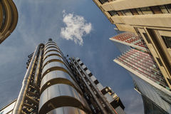 Lloyds Building and financial district, London. Stock Photo