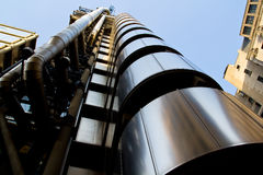 Lloyds Building London. View of the famous building in London Viewed Looking upwards Royalty Free Stock Image